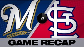 3 Cardinals combine to 1-hit Brewers | Brewers-Cardinals Game Highlights 8/19/19