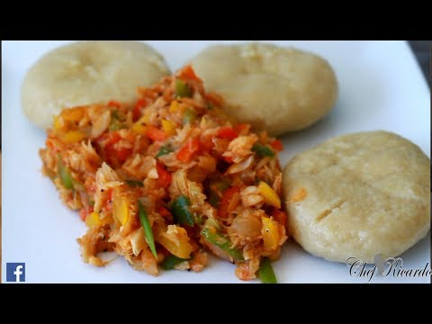 Jamaican Dumpling And Selfish. Jamaican Cooking. Salt Fish | Recipes By Chef Ricardo