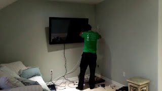 Wall Mounted Flat Screen TV in Minutes!