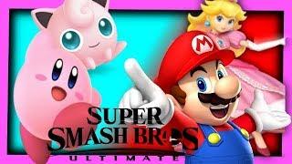 Kirby and Jigglypuff VS Mario and Peach - Super Smash Bros Ultimate