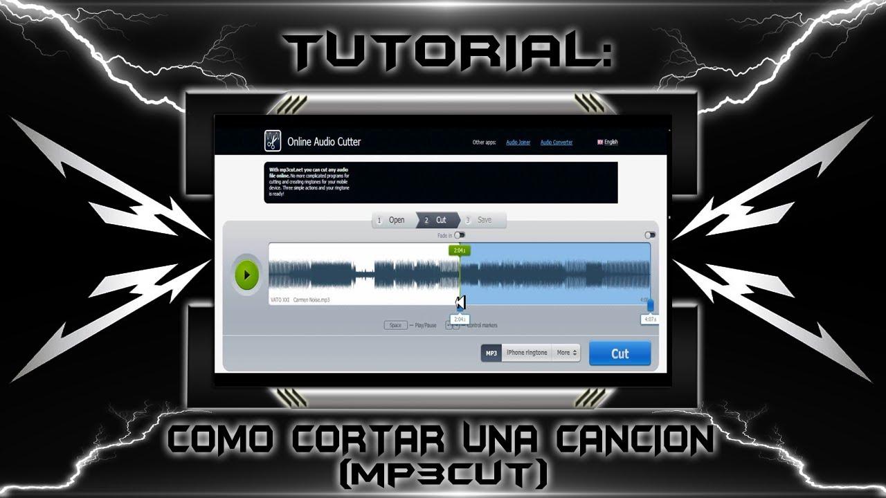 Como Cortar Una Canción Mp3cut 2012 Youtube