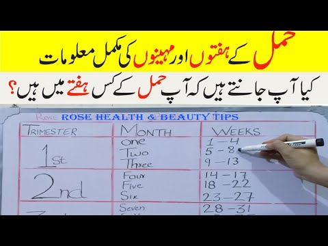 How To Calculate Pregnancy Week In Urdu | How To Check Pregnancy Month