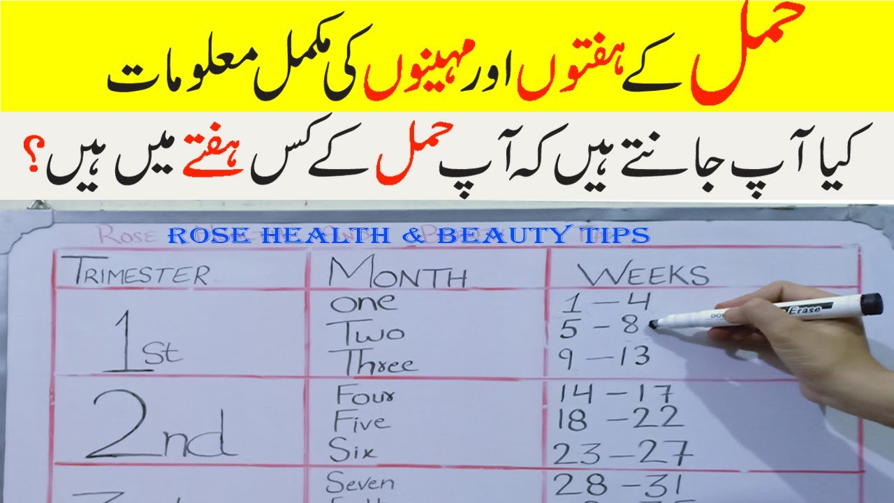 How To Calculate Pregnancy Week In Urdu How To Check Pregnancy Month Youtube