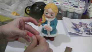 Снегурочка из сахарной мастики. (Snow Maiden from sugar paste)