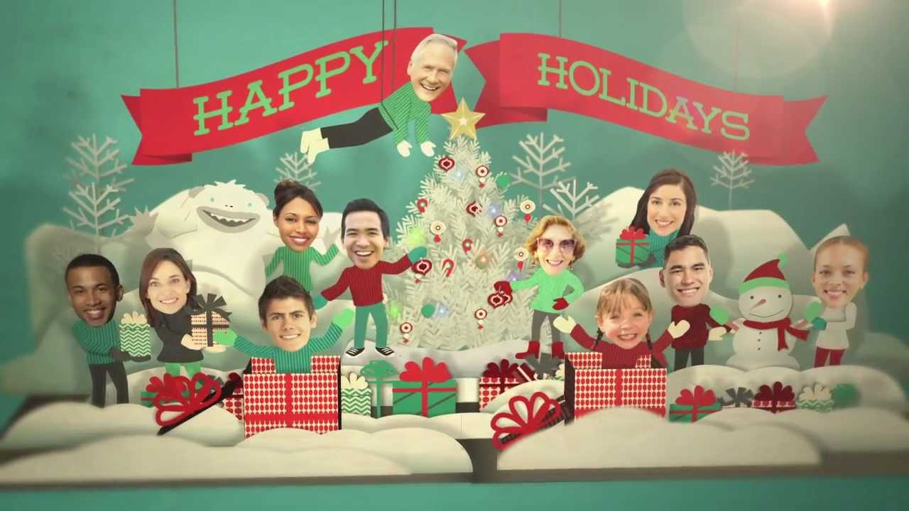 Holiday Faces Pop Up Card After Effects Template YouTube