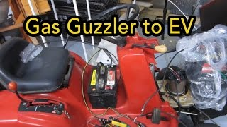 Lawn tractor to EV conversion (Electric Vehicle) - part 1
