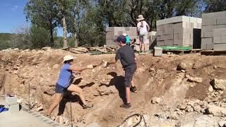 High Desert Homestead - Laying Basement Block