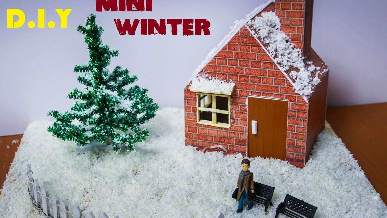 How To Make A Miniature Winter Garden   DIY Christmas   YouTube