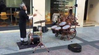Fuman Musicoloco (video viral de re-percusión con batería a distancia Zaragoza 2016)