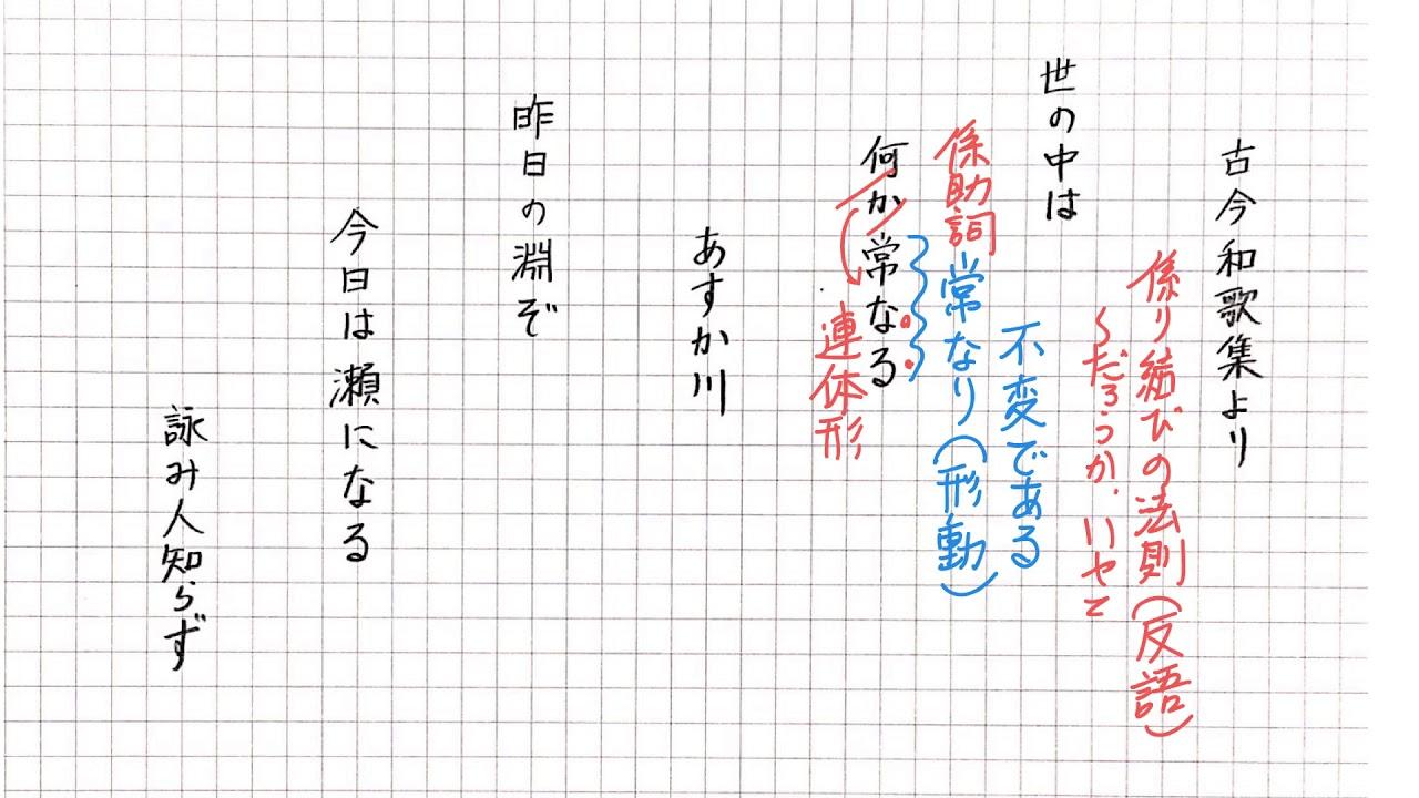 古今和歌集 詠み人知らず【ステップ編】 - YouTube