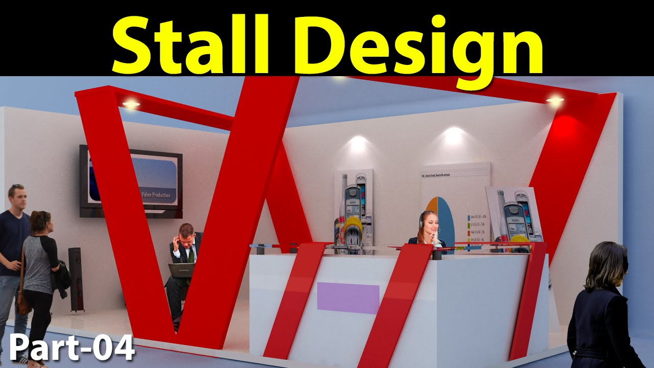 3d Exhibition Stall : Stall design in d max part youtube