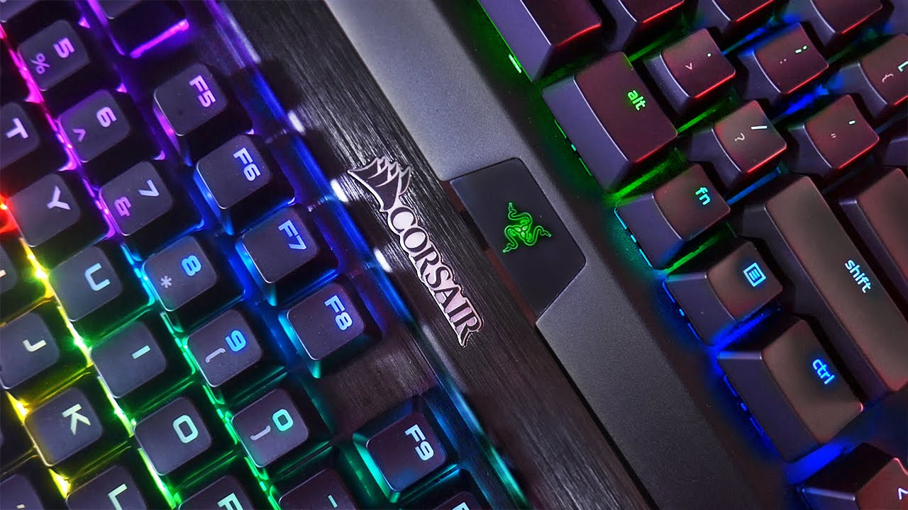 b983ca36104 Razer Blackwidow X Chroma vs Corsair K70 RGB Rapidfire Keyboard Comparison!  - YouTube