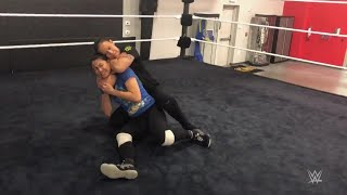 Shayna Baszler viciously interrupts a training session at the WWE Performance Center