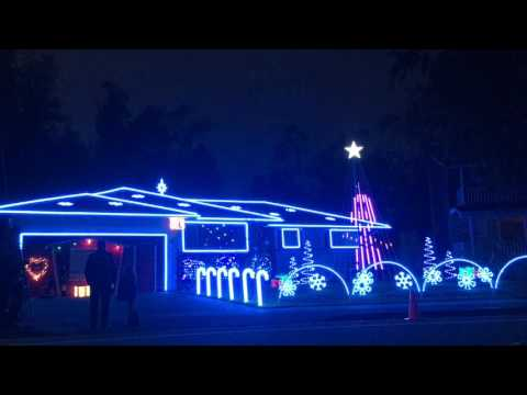Christie James - North Bay House Dazzles With 100K Christmas Lights & Snow
