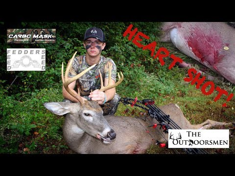 Early Season Kentucky Whitetail Bow Hunt | TEEN KILLS FIRST BOW BUCK WITH HEART SHOT