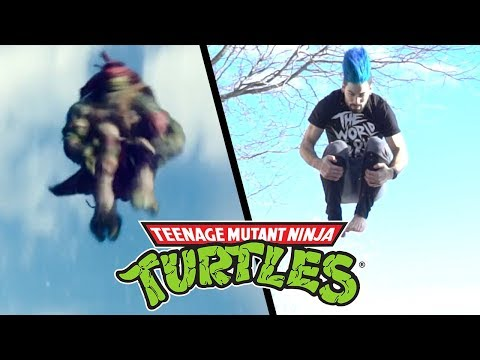 Stunts from Teenage Mutant Ninja Turtles Movie TMNT in real life