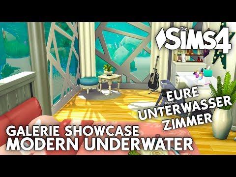 Eure Unterwasser Zimmer 😍 | Die Sims 4 Unterwasser Haus | Modern Underwater