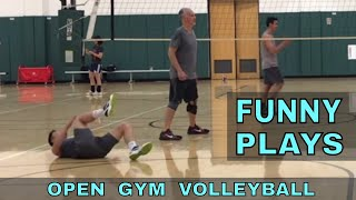 FUNNY PLAYS - Open Gym Volleyball Highlights (5/3/18)