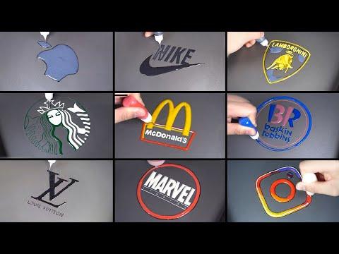 Famous logo pancake art - NIKE, Louis Vuitton, Apple, Lamborghini, Starbucks, McDonald's, Marvel etc