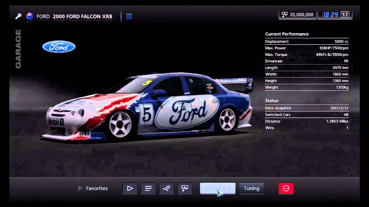 Rally Car Wallpapers Free Gran Turismo 5 Ford 2000 Ford Falcon Xr8 Youtube