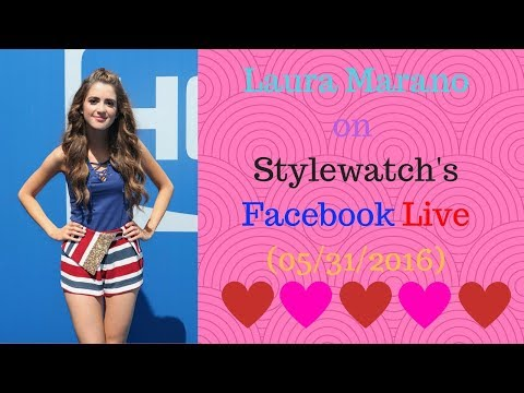Laura Marano on Stylewatch's Facebook Live (05/31/2016)