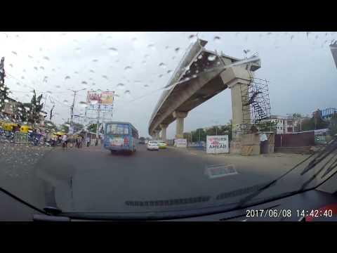 E.M Bypass, Kolkata - South Bound Lane - Near SaltLake To Rajpur-Sonarpur - Dash Cam Video