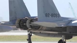 F-15 近代化改修機 F100-IHI-220E DEECエンジン ノズル開閉音 2015.12.13 那覇基地エアーフェスタ 2015 / JASDF F-15MJ DEEC