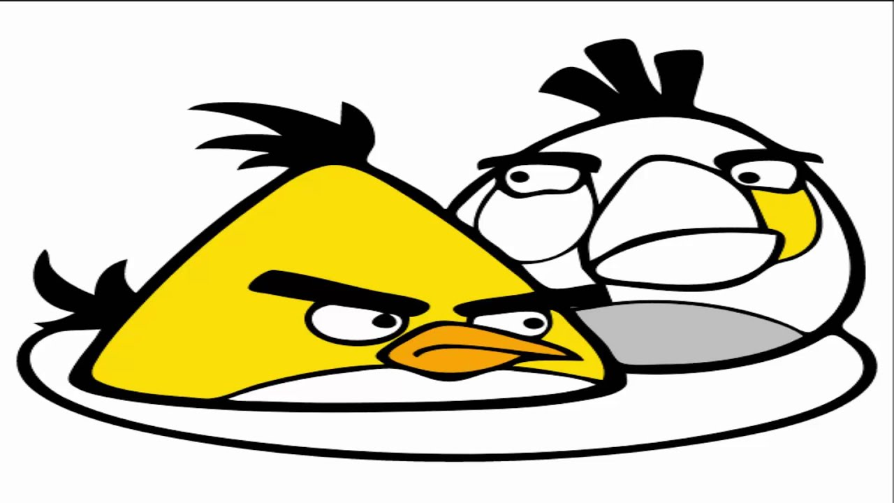 Angry Birds Coloring Pages Chuck Matilda Youtube