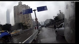 Drive along the river in Nanning -with my helmet cam