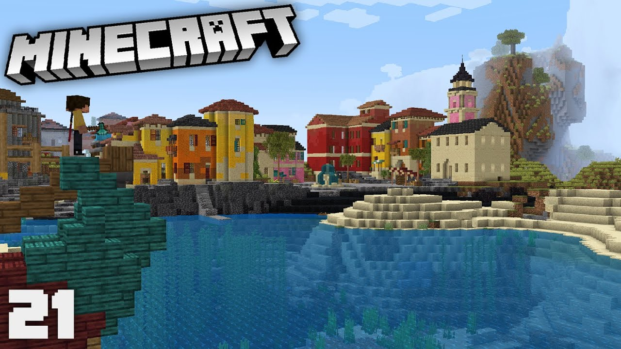 Building a Town Square in my Tuscan City! | Minecraft 1.17 Survival