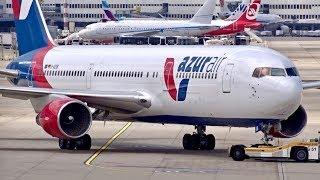 NEW AIRLINE Azur Air Germany Boeing 767-300ER ENGINE TEST at Düsseldorf Airport | D-AZUB