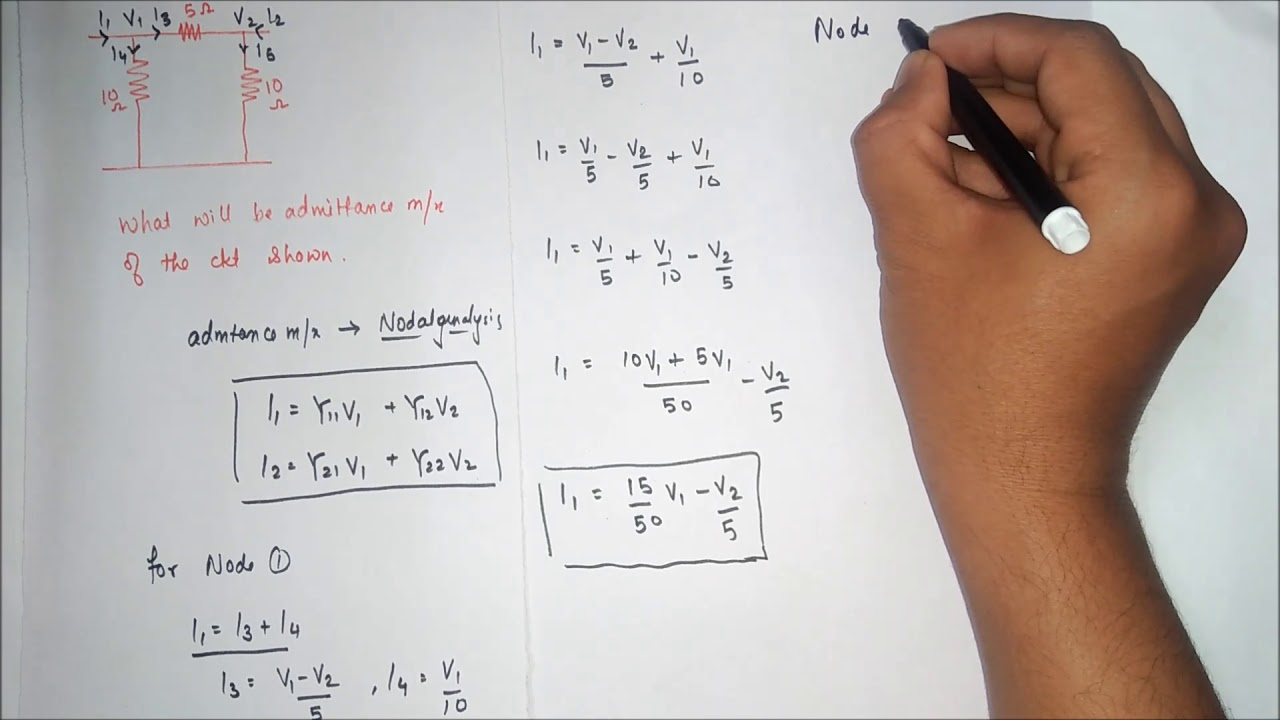 solving admittance matrix in two port network y parameter youtube rh youtube com