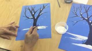 Flipped Classroom:  How to draw a winter tree