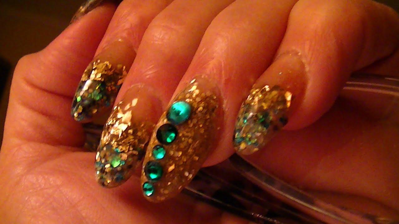 Glitter Heels Green Teal