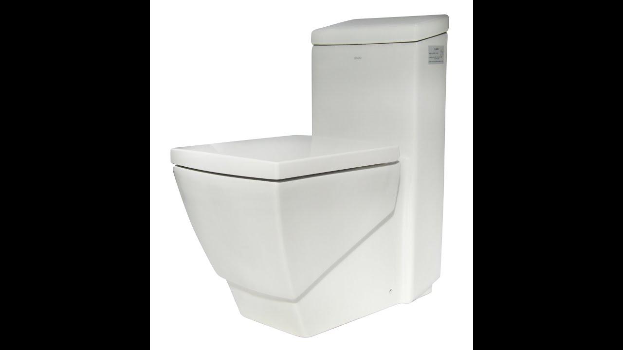 square white toilet  one piece eco friendly toilet by eago (model  - square white toilet  one piece eco friendly toilet by eago (model tb) youtube