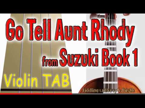 Go Tell Aunt Rhody - Suzuki Book 1 - Violin - Play Along Tab Tutorial thumbnail