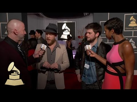 Mumford & Sons on the 55th Annual GRAMMY Awards Red Carpet | GRAMMYs