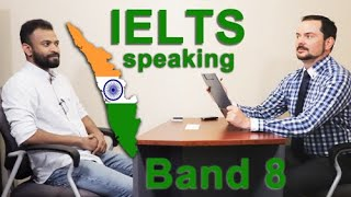 IELTS Speaking Band 8 India - Kerala State with Subtitles and Tips