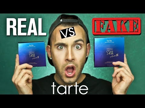 REAL v.s. FAKE Tarte Rainforest Of The Sea Palettes | Swatch + Look