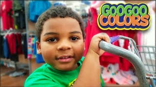 LET'S GO SHOPPING SONG! Family Shops at Grocery Shoe & Clothes Store