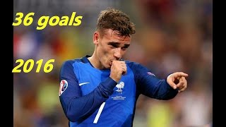 Antoine Griezmann / All 36 Goals in 2016 / Atletico Madrid & France