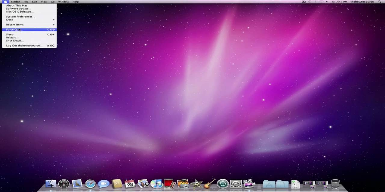 Mac os x basics introduction to the apple menu youtube for Innenarchitektur mac os x
