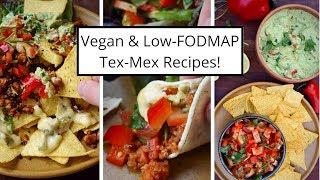 Tex-Mex Recipes! Vegan & Low FODMAP (Guacamole, Salsa, Quinoa Chilli, Tempeh & Nachos)