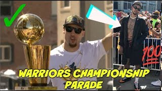 GOLDEN STATE WARRIORS GO CRAZY AT THEIR CHAMPIONSHIP PARADE - WARRIORS CHAMPIONSHIP PARADE 2018 🍾🏆