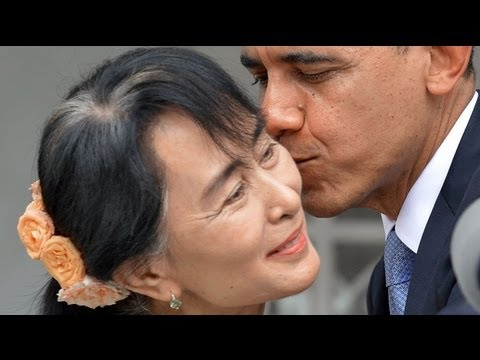 Barack Obama meets Aung San Suu Kyi in Burma
