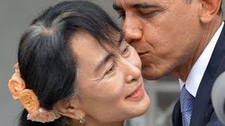Barack Obama meets Aung San Suu Kyi in Burma