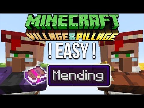 Minecraft 1 14 Easy Mending Books Tutorial - YouTube