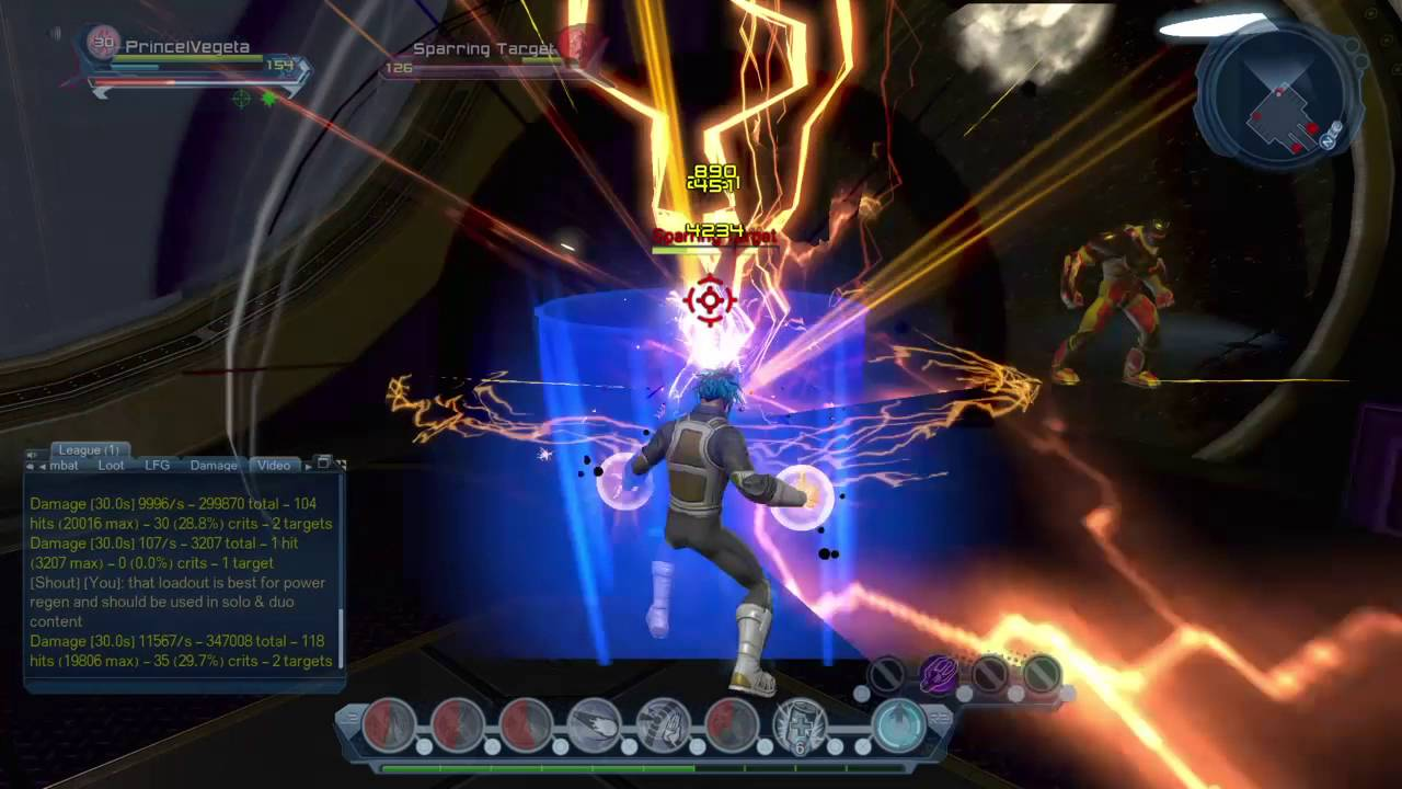 dcuo lightning dps build electricity dps loadout rotation ranged