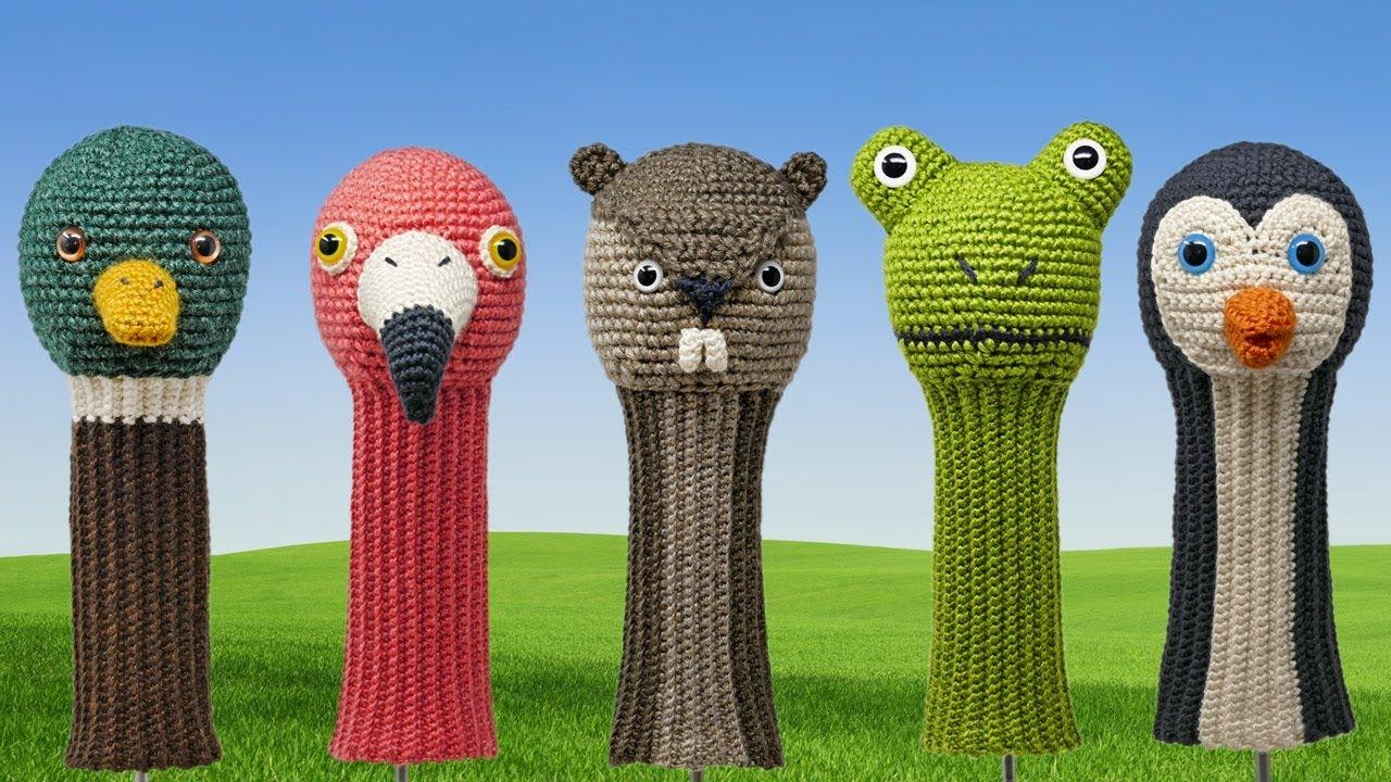 Amigurumi Crocheted Golf Club Covers Book Trailer Youtube