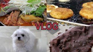 일주일 Vlog   겨울엔 호떡   두유유부초밥 해먹고…